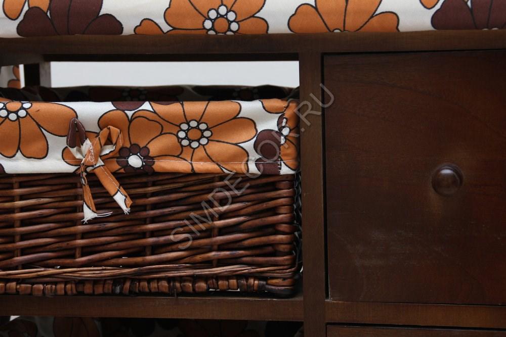 Гладильный комод с ящиками и корзинками для белья ЮТТа Texas